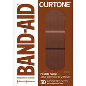 Band-Aid Adhesive Bandages, Flexible Fabric, Assorted