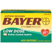 Bayer Aspirin Regimen Low Dose Safety Coated Tablets Pain Reliever