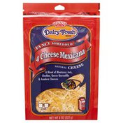 Dairy Fresh Cheese, Natural, 4 Cheese Mexicana, Fancy Shredded