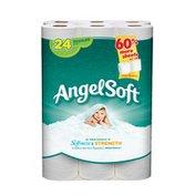 Angel Soft Softness & Strength Bathroom Tissue Unscented Regular Rolls - 24 CT
