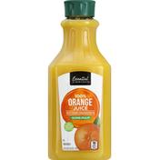 Essential Everyday 100% Juice, Orange, Some Pulp