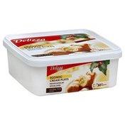 Belgian. Mini Eggnog Cream Puffs