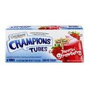Chobani Low-Fat Greek Yogurt Champions Tubes Jammin' Strawberry - 8 CT