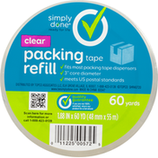 Simply Done Packing Tape Refill, Clear, 60 Yards