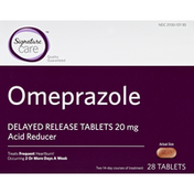 Signature Home Omeprazole, 20 mg, Delayed Release Tablets