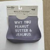 Bella Tunno Purple Why You Peanut Butter & Jealous Wonder Bib
