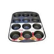 T-Fal Signature 12 Cup Multicolor Nonstick Muffin Pan