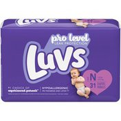 Luvs Pro Level Leak Protection Diapers Size 0