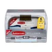 Rubbermaid Brilliance - 6 PC