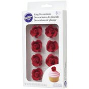 Wilton Red Rose Royal Icing Decorations, 1.55 oz.