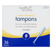 Healthy Accents Unscented Tampons Regular