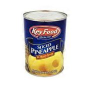 Key Food Sliced Pineapple in Heavy Syrup
