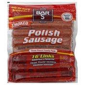 Bar-S Sausage, Polish, Smoked, Family Pack