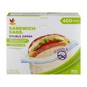 Ahold Sandwich Bags Double Zipper - 400 CT