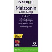 Natrol Melatonin, Calm Sleep, Tablets, Strawberry