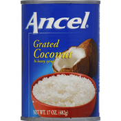 Ancel Coconut, Grated, in Heavy Syrup