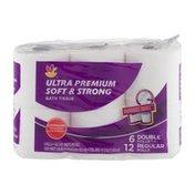 SB Ultra Premium Soft & Strong Bath Tissue Double Rolls - 6 CT
