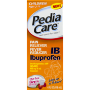 PediaCare IB Ibuprofen Pain Reliever Fever Reducer Oral Suspension Ages 2-11 Dye-Free Berry Flavor