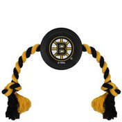 Pets First Boston Bruins Hockey Puck Dog Rope Toy