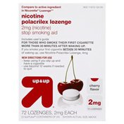 Up&Up Stop Smoking Aid, 2 mg, Lozenges, Cherry Flavor