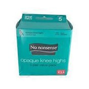 No Nonsense Plus Size Value Pack Black Opaque Knee High