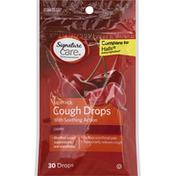Signature Care Cough Drops, Menthol, Cherry