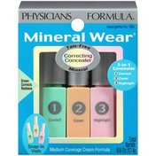 Mineral Wear™ 7061 Green/Light/Pink Trio Mineral--Trio Vert/Clair/Rose Minerale Correcting Concealer--Creme correctrice