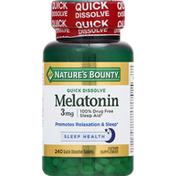 Nature's Bounty Melatonin, 3 mg, Quick Dissolve Tablets