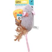 Pet Zone Cat Toy, Jumbo Rat with Cheese