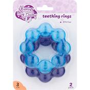 Always My Baby Teething Rings, 3+ Months, 2 Pack