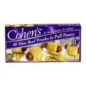 Cohen's Mini Beef Franks In Puff Pastry - 40 CT