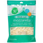 Food Club Thick Cut Low-Moisture Part-Skim Shredded Mozzarella Cheese