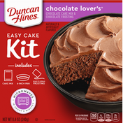 Duncan Hines Cake Mix & Frosting, Chocolate Lover's, Easy Cake Kit