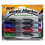 BiC Dry Erase Magic Markers Chisel Tip - 4 CT