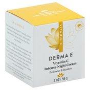 DERMA E Night Cream, Intense, Vitamin C