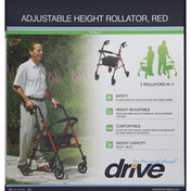 Drive Rollator, Adjustable Height, Red