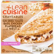 LEAN CUISINE Grill white meat chicken, sun-dried tomatoes, red peppers & a creamy basil sauce in a flavorful flatbread Sun-Dried Tomato Basil Chicken Flatbread Melt