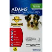 Adams Flea & Tick Spot On For Dogs Medium Dogs