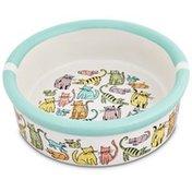 "Harmony 1.75"" H X 5"" Diameter Cat Town Ceramic Cat Bowl"