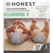 Honest Tea Diapers, Feelin Nauti, Giggly Boo, Size 3 (16-28 lbs)