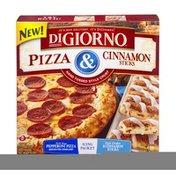 DiGiorno Pepperoni Pizza & Cinnamon Sticks