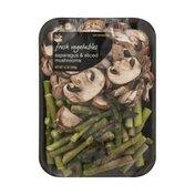 SB Fresh Vegetables Asparagus & Sliced Mushrooms