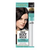 L'Oreal Root Rescue 10 Minute Root Hair Coloring Kit, 3 Soft Black