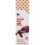 Food Lion Storage Bags, Double Zipper, Quart Size, Box