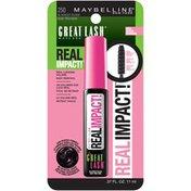 Great Lash Real Impact, 250 Blackest Black Washable Mascara
