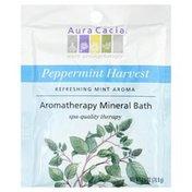 Aura Cacia Pure Aromatherapy Peppermint Harvest Mineral Bath Salts