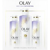 OLAY Cleansing & Renewing Nighttime Body Wash With Retinol Triple Pack