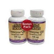 Natural Factors 100mg Coenzyme Q-10 Softgels