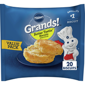 Pillsbury Grands! Butter Tastin' Biscuits, Value Pack, 20 Count