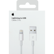 Apple Cable, Lightning to USB, 1M